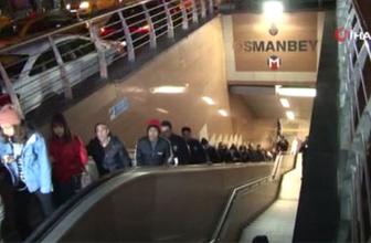 Osmanbey'de bir kişi raylara düştü, metro seferleri yapılamıyor