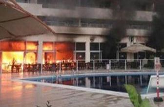 Hatay'da termal otelde yangın