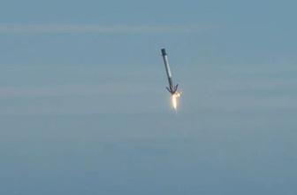 Elon Musk paylaştı! SpaceX Falcon 9 roketi denize düştü