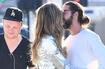 Heidi Klum'dan sevgilisine set arası aşk öpücüğü