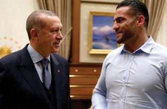 Erdoğan, dünya şampiyonu boksörü ağırladı