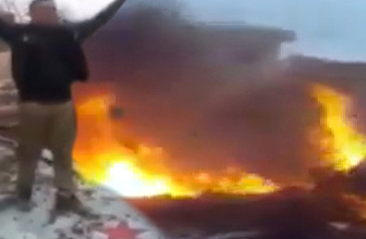 Rus uçağı böyle düşürüldü! İşte ilk kez ortaya çıkan görüntüler