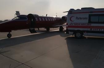 Kalp hastası bebek uçakla İstanbul'a getirildi