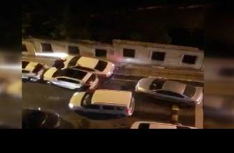 Polis hırsız kovalamacasını camdan anlatan teyze