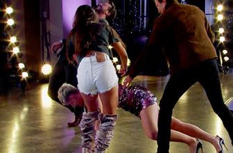 Katy Perry dans ederken öyle bir frikik verdi ki!