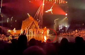 Cirque du Soleil'de korkunç ölüm. Dansçı metrelerce yükseklikten düştü