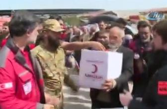 TSK, Afrin'e yapılan yardımların videosunu paylaştı