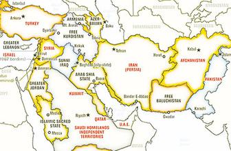 ABD bu yüzden Afrin'e seyirci kalmış! Şok haritada Türkiye de var