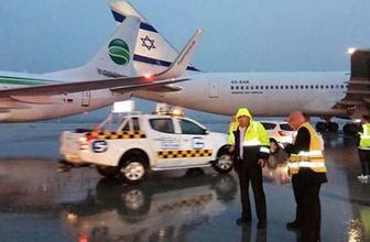 Ben Gurion havaalanında iki uçak pistte çarpıştı