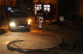 Kopan elektrik teli mahalleyi birbirine kattı