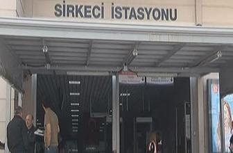 Marmaray Sirkeci İstasyonu'nda bir kişi raylara düştü