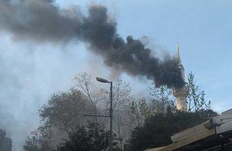Teşvikiye Camii'nde korkutan yangın: İtfaiye müdahale etti!