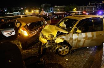 Ankara'da 10 araç birbirine girdi