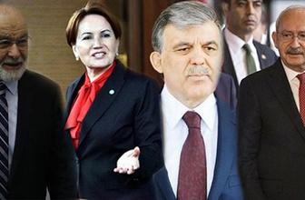 Gül, Akşener, Kılıçdaroğlu ve Karamollaoğlu bu akşam buluşuyor