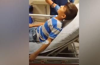 Düdük yutan çocuk sosyal medyayı salladı