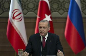 Erdoğan: 'Birinciyi Soçi'de yaptık, ikinciyi burada, şimdi üçüncüyü de Tahran'da yapacağız.'