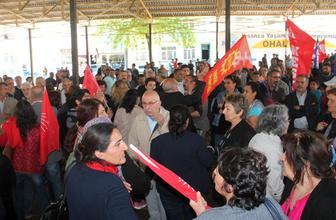 HDP'li vekil CHP'nin sloganını eleştirdi, CHP'liler alanı terk etti
