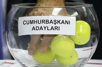Cumhurbaşkanı adayları oy pusulası sıralaması belli oldu