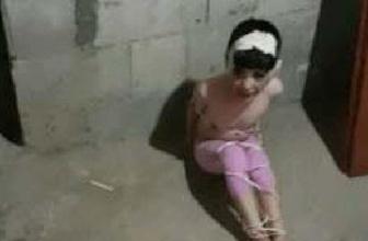 6 yaşındaki çocuğu kaçırıp bu fotoğrafı gönderdiler!