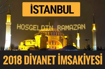 2018 İmsakiye İstanbul- Sahur imsak vakti iftar ezan saatleri