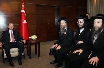 Erdoğan İsrail'i tanımayan Musevi Cemaati üyeleriyle görüştü
