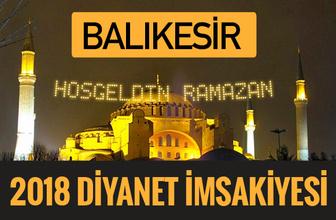 2018 İmsakiye Balıkesir- Sahur imsak vakti iftar ezan saatleri