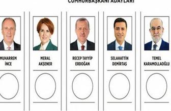 Cumhurbaşkanlığı oy pusulası yayınlandı! İşte o pusula