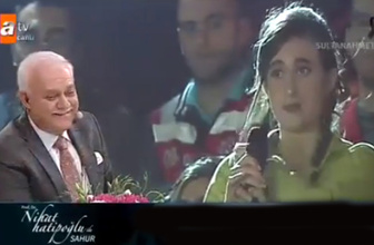 Sahur programında Nihat Hatipoğlu'nu güldüren soru!