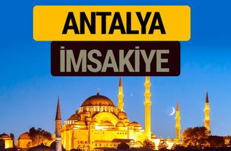 Antalya İmsakiye 2018 iftar sahur imsak vakti ezan saati