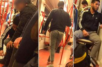 Tramvayda 'Helal olsun' dedirten hareket: Herkes hayran kaldı!