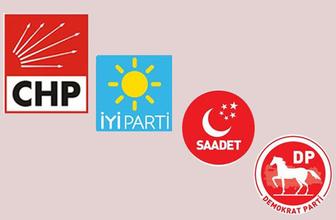 O partilerin liderleri CHP'den aday gösterilecek