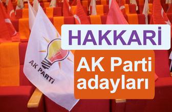 AKP Hakkari milletvekili adayları 2018 AK Parti listesi