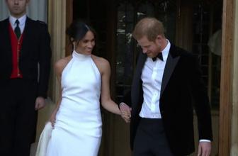 Kraliyet düğününde 2. perde! Gelinlik yerini beyaz kıyafete bıraktı