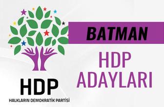 HDP Batman milletvekili adayları 27. dönem listesi