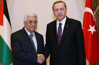 Erdoğan rahatsızlanan Mahmud Abbas ile görüştü