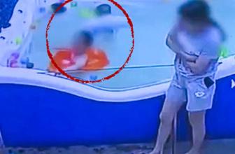 Oyun havuzunda dehşet olay! Kimse fark etmedi