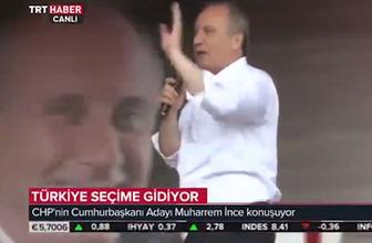 TRT tam Muharrem İnce'nin mitingine bağlanmıştı ki...
