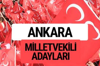 MHP Ankara milletvekili adayları 2018 YSK kesin listesi