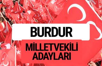 MHP Burdur milletvekili adayları 2018 YSK kesin listesi