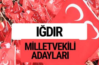 MHP Iğdır milletvekili adayları 2018 YSK kesin listesi