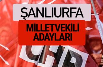 CHP Şanlıurfa milletvekili adayları isimleri YSK kesin listesi
