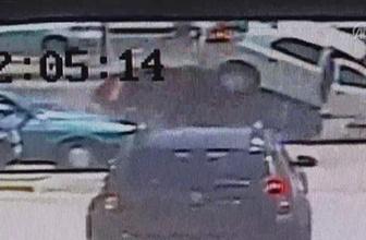 Egzoz emisyon ölçümü yaptıran çifte otomobil çarptı
