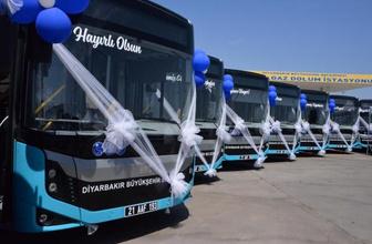 Diyarbakır 50 yeni belediye otobüsüne kavuştu