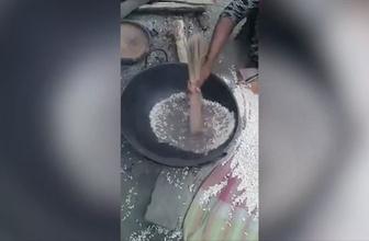 İlginç pirinç yapma yöntemi! İlk defa göreceksiniz