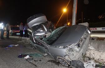 Trafik kazasında ağabey öldü kardeşi yoğun bakımda