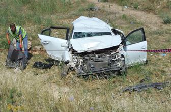 Bursa'da otomobil şarampole devrildi: 1 ölü, 1 yaralı