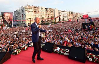 İnce'den İzmir'de muhteşem miting