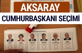 Aksaray Cumhurbaşkanları oy oranları YSK Sandık sonuçları