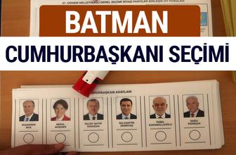 Batman Cumhurbaşkanları oy oranları YSK Sandık sonuçları