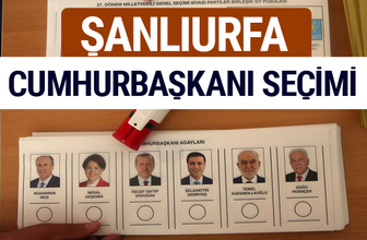 Şanlıurfa Cumhurbaşkanları oy oranları YSK Sandık sonuçları
